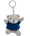 Pluche sleutelhanger teddybeer blauw