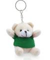 Pluche sleutelhanger teddybeer groen