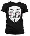 Zwart V for Vendetta girly t-shirt