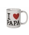 Witte beker I love papa