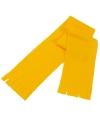 Voordelige gele fleece sjaal voor kids