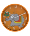 Wandklok olifant 23 cm oranje