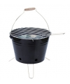 Zwarte emmer barbecue 30 cm